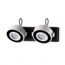3490/2W MODERN ODL18 145 белый с черным Настенный светильник IP20 GU10 2*50W 220V SATELIUM