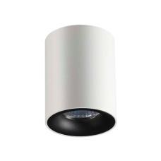 3569/1C HIGHTECH ODL18 186 белый с черным Потолочный накладной светильник GU10 1*50W 220V TUBORINO
