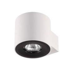 3581/1W HIGHTECH ODL18 225 белый с черным кольцом Настенный светильник IP20 GU10 1*50W 220V LACONA