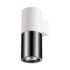 3834/1W HIGHTECH ODL19 203 белый с черным/металл Настенный светильник GU10 1*50W D91хH180 DUETTA