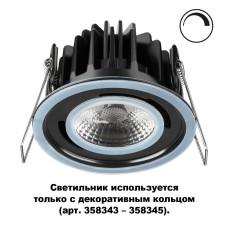 358342 SPOT NT19 000 черный Встраиваемый влагозащищённый диммир.св-к IP44 LED 3000К 8W REGEN